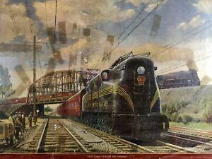 PENNSYLVANIA-RAILROAD-MAIN-LINES-FREIGHT-amp-PASSENGER-POSTER-GRIF-TEELER-1948