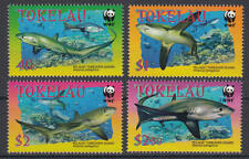 Tokelau Inseln (Islands) - Michel-Nr. 322-325 postfrisch/** (WWF Haie / Sharks)