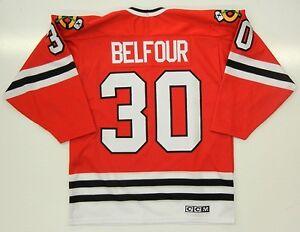 b5607f101 Image is loading ED-BELFOUR-CHICAGO-BLACKHAWKS-CCM-AWAY-JERSEY