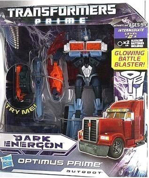 Transformers Prime Dark Energon Translucent Glowing Fusion Voyager  Optimus