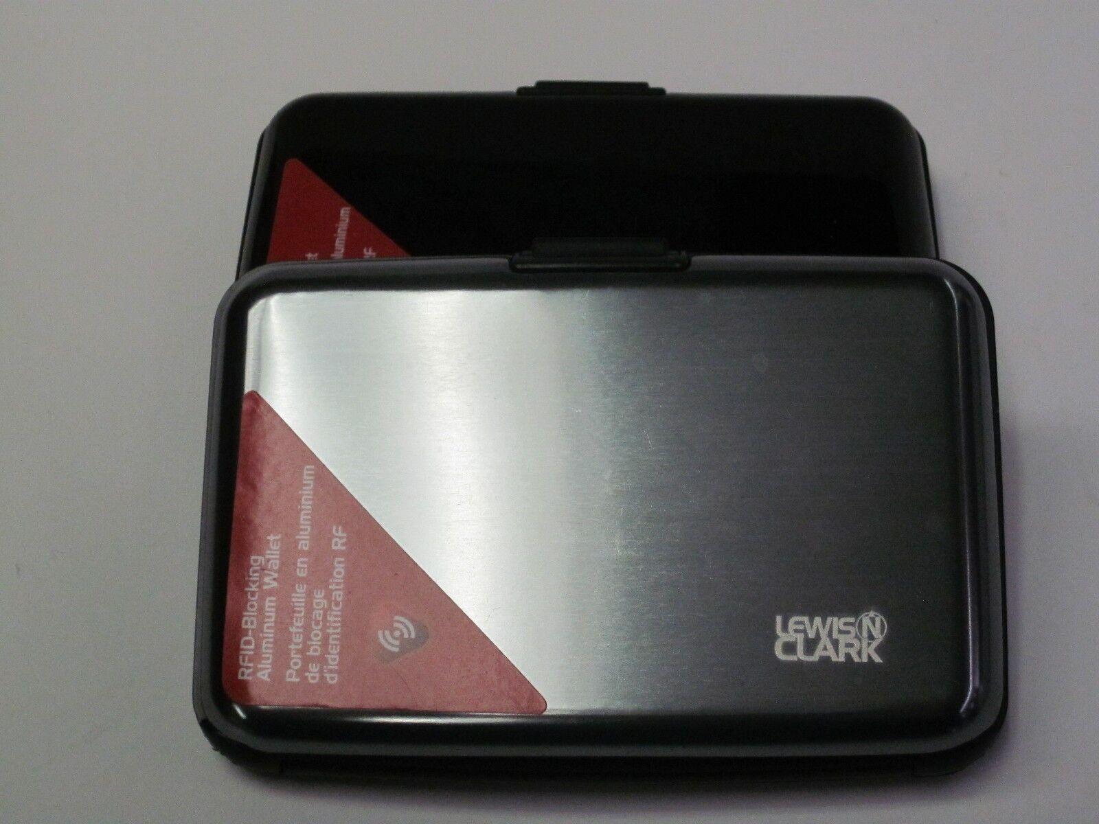 Lewis N Clark Aluminium Rfid Blocage Crédit Carte Etui Support Portefeuille 1201