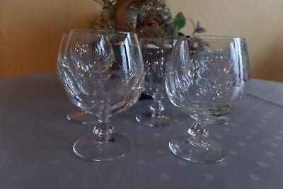 5 Stück Kristall Weingläser Schwer Exquisite (In) Verarbeitung
