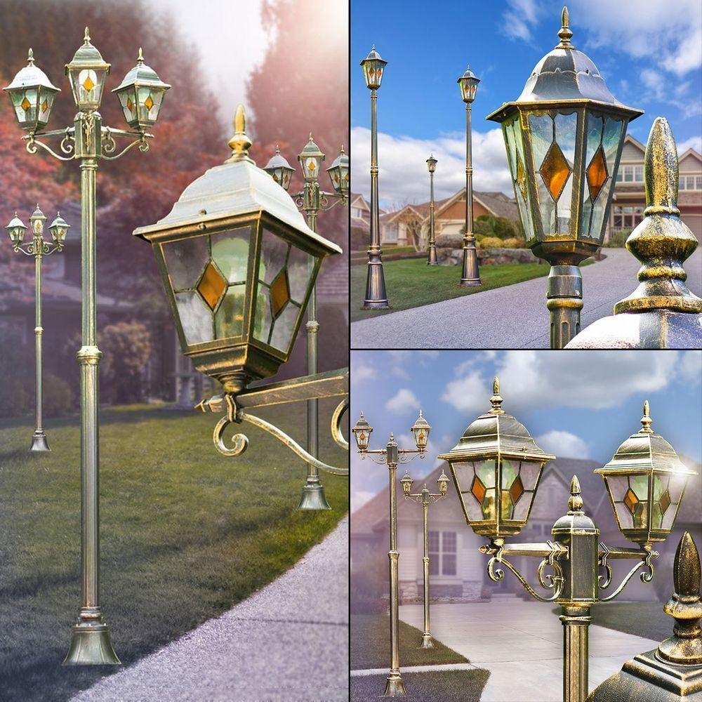 Antibes Kandelaber Außen Steh Stand Poller Beleuchtung Laternen Garten Hof Lampe