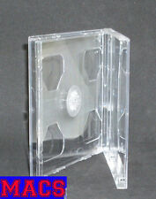 3 CD Hüllen durchsichtig transparent f 2 CDs DVDs 2fach Maxi Breite 10mm 1cm Neu