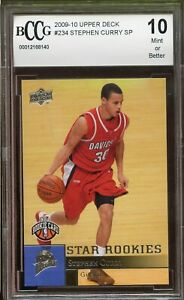 2009-10-Upper-Deck-234-Stephen-Curry-Rookie-Card-BGS-BCCG-10-Mint