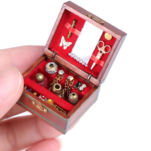 1//12 Dollhouse Miniatures Jewelry Box Doll Room Decor House Accessory  ES