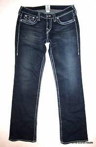 Billy T Wash True Big 31 Denim Religion Disco Dark Jeans Kvinders Crystals Bootcut 6pq4S