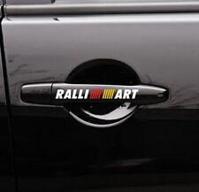 4PCS Reflective RALLIART Auto Door Handle Decal Vinyl Car Sticker for Mitsubishi