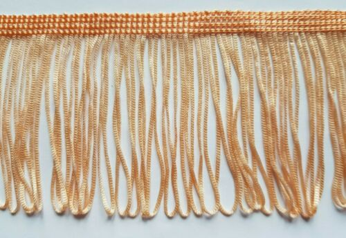 "8 cm 80 mm 3/"" Width Peach Loop Tassel Trim Trimming Edging Upholstery Craft"
