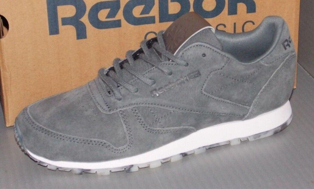 Damenschuhe REEBOK CL LEATHER SHMR in colors GREY ALLOY GREY colors / Weiß / PEWTER SIZE 6 8ddb95