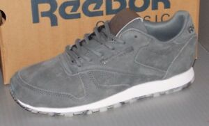 49f105fd2611c2 WOMENS REEBOK CL LEATHER SHMR in colors ALLOY GREY   WHITE   PEWTER ...