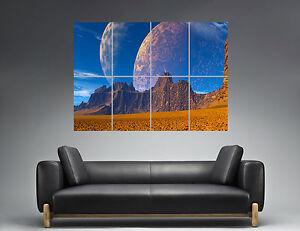 Rocher Nature Paysage Cascade Chute D/'eau  Wall Art Poster A0 Large print