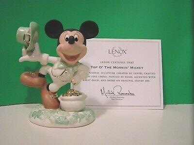 LENOX TOP O/' THE MORNIN/' MICKEY sculpture NEW in BOX with COA IRISH Disney March