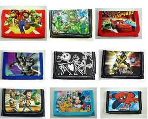 Kids-Children-Boys-Cartoon-Character-Purse-Wallet-Coin-Purse-Mario-Batman-Gifts