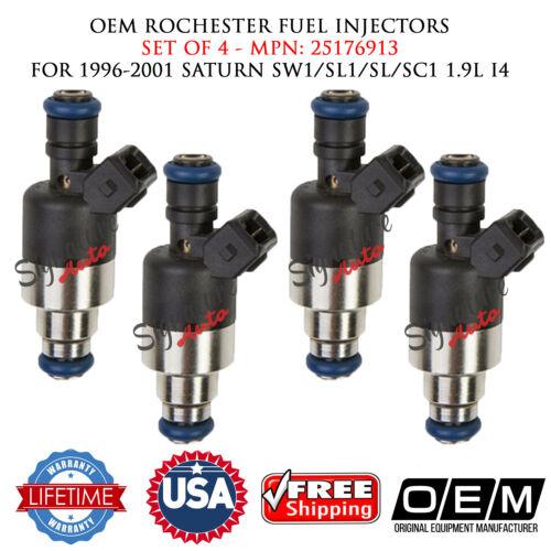 SET OF 4 OEM ROCHESTER Fuel Injectors for 1996-01 SATURN SW1//SL1//SL//SC1 1.9L I4