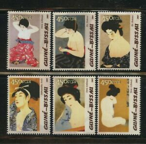 Torii-Kotondo-Nude-Paintings-Art-Set-of-6-mnh-stamps-2005-Guinea-Bissau