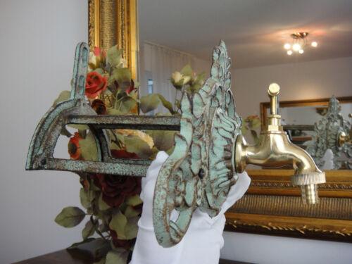 tuyau support art nouveau antique Wandbrunnen fer laiton Jardin robinet