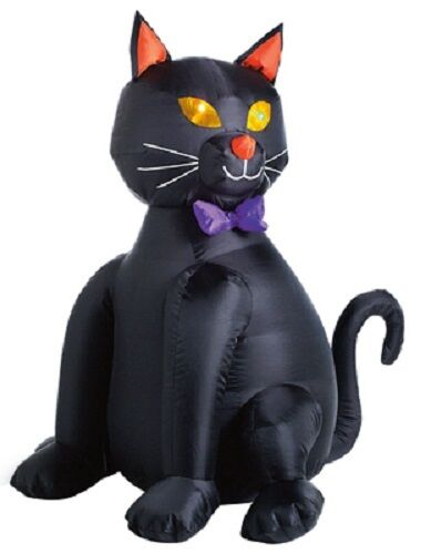 """CITI TALENT 48"""" INFLATABLE LIGHTED BLACK CAT FOR OUTDOOR USE 90-224-087"""