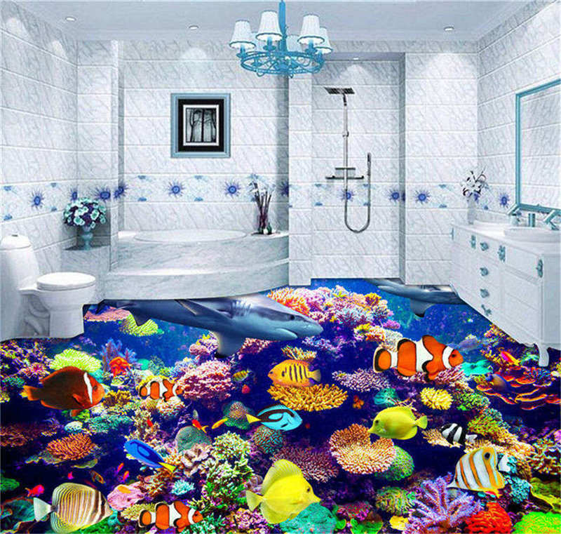 Farbeless Farbeless Farbeless Animals 3D Floor Mural Photo Flooring Wallpaper Home Print Decoration a86061