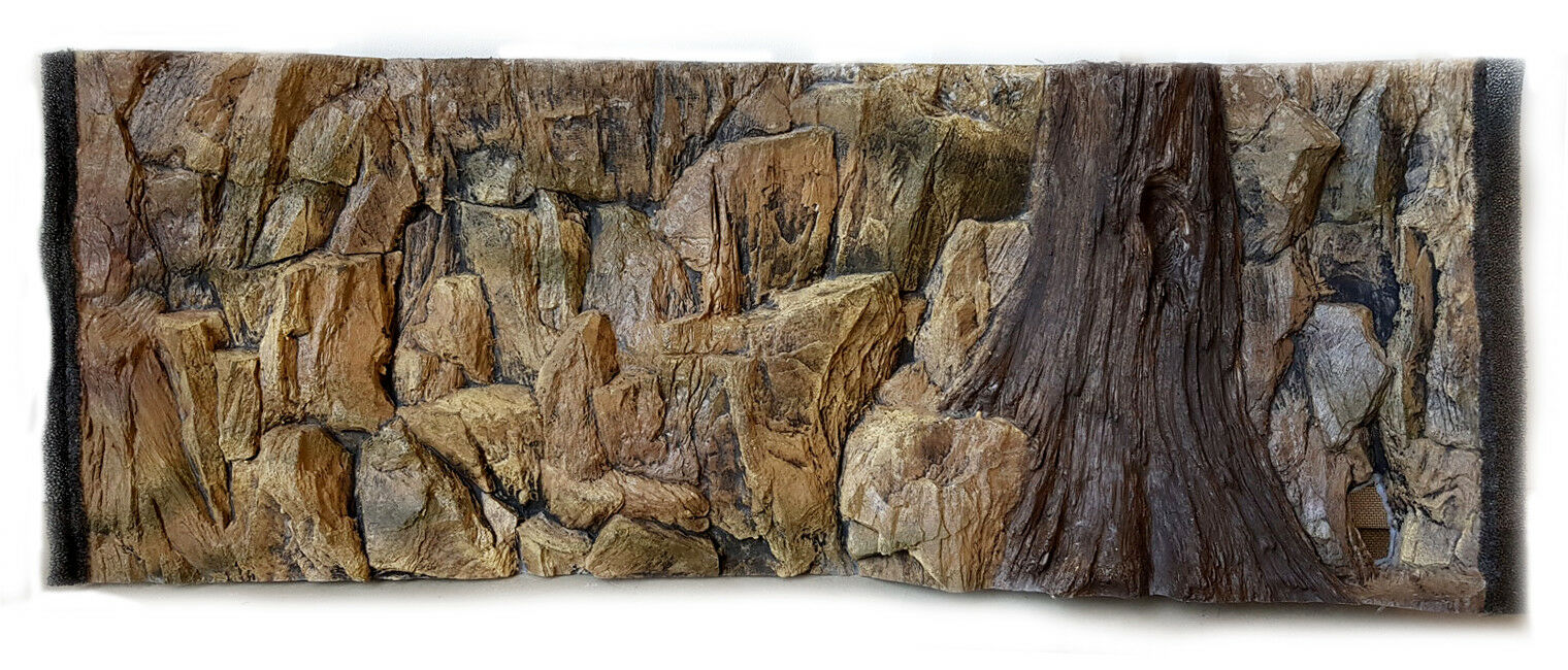 3D muro di base sfondo RADICE per Acquario Vasca dei Pesci Terrario POLIRESINA 97x36cm