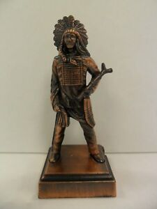 Antique-Finished-Indian-Chief-Pencil-Sharpener-New-In-Box