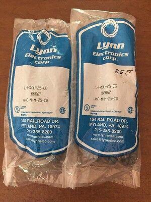 LYNN ELECTRONICS L-H4DU-06-LA Coiled Telephone  Cord Ivory NIB