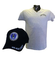 Combo Air Force Gray Shirt Xl, Air Force Cap
