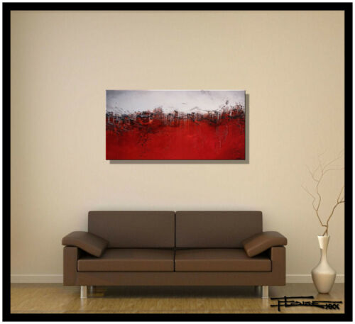 ABSTRACT PAINTING MODERN canvas WALL ART Framed Signed US ELOISExxx