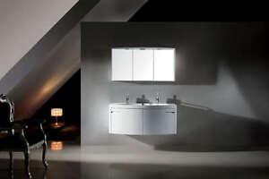 Mobile bagno doppio lavabo arredo bagno completo pensile 120cm
