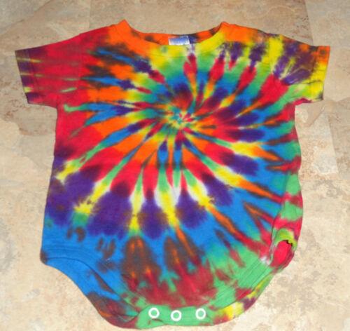 Tie dye dyed hippie baby onepiece creeper romper Jersey Bodysuit 6M 12M 18M 24M