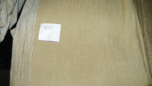 Cream Stripe Chenille Upholstery Fabric Remnant  1 Yard  F825