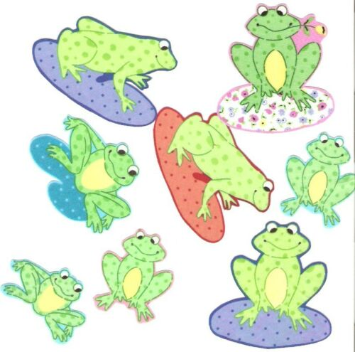 Happy Frogs Iron On Fabric Appliques