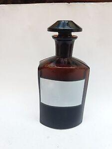 ANTIQUE-APOTHECARY-GLASS-BOTTLE-MEDICAL-JAR-MEDICINE-19-c