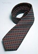 Vrai vintage Burton collection gris motif de diamant cravate rapide et frais d'expédition gratuits R-U