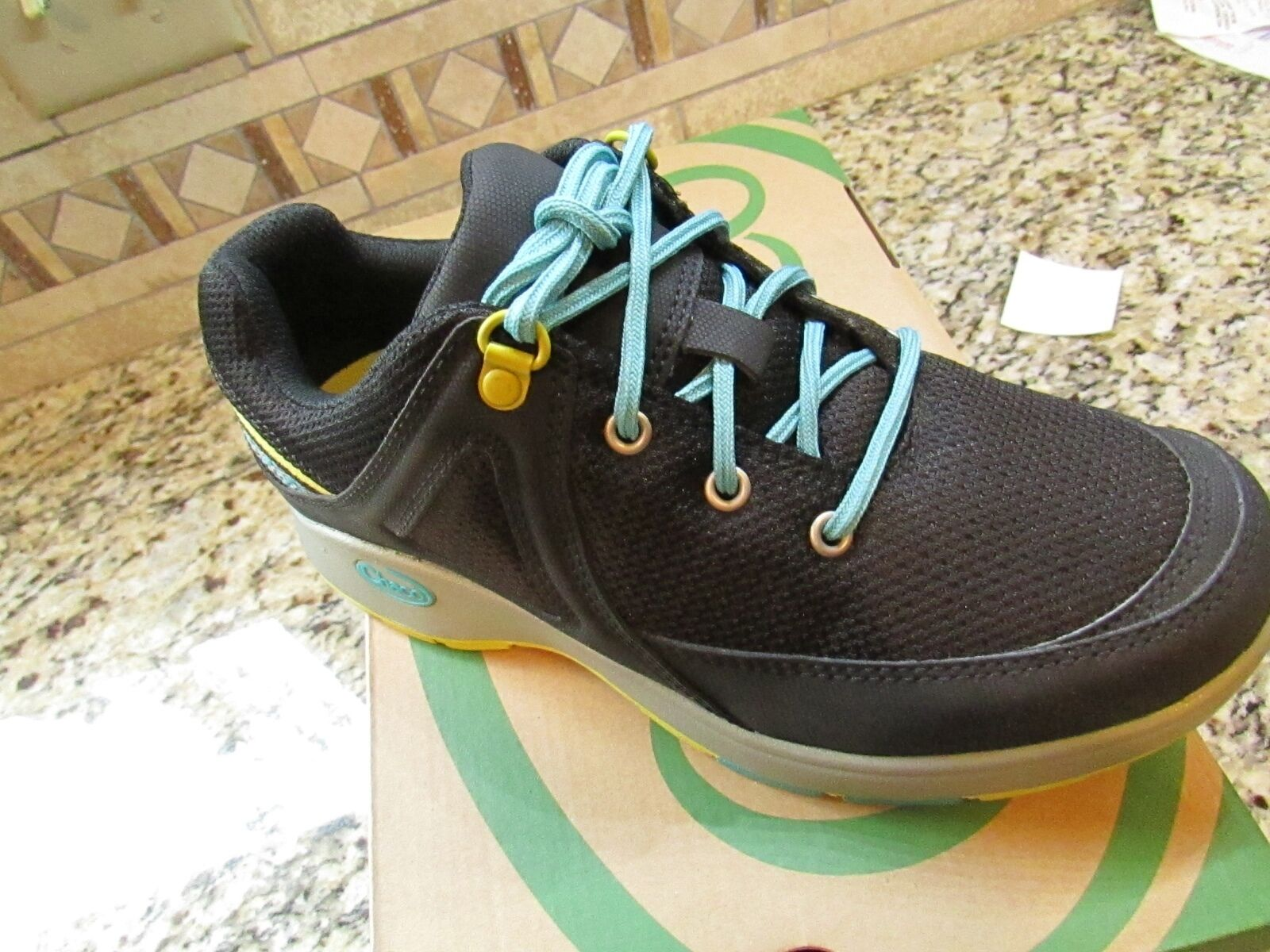 NEW CHACO VIKA Noir ATHLETIC Chaussures Femme 6 Noir ECO-TREAD  FREE SHIP
