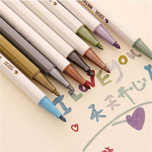 Waterproofft 10 x Color  Fine Pen Pencil Marker DIY Album Dauber Pen Set