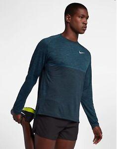 e4e2a40c Nike Dri-Fit Knit Medalist Long Sleeve Running Top Shirt Blue Force ...