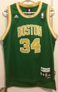 cheaper 53495 7e893 Details about Paul Pierce St Patricks Day Nba Boston Celtics Jersey Adidas  Gold Youth L Truth