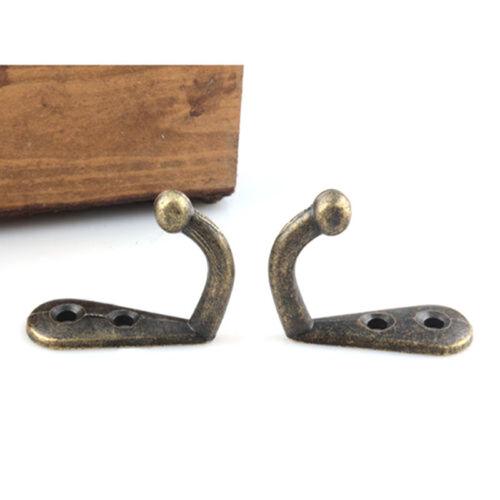 5//10pcs Wall Door Metal Antique Hooks Hangers For Key Clothes Coat Hat Bag Towel