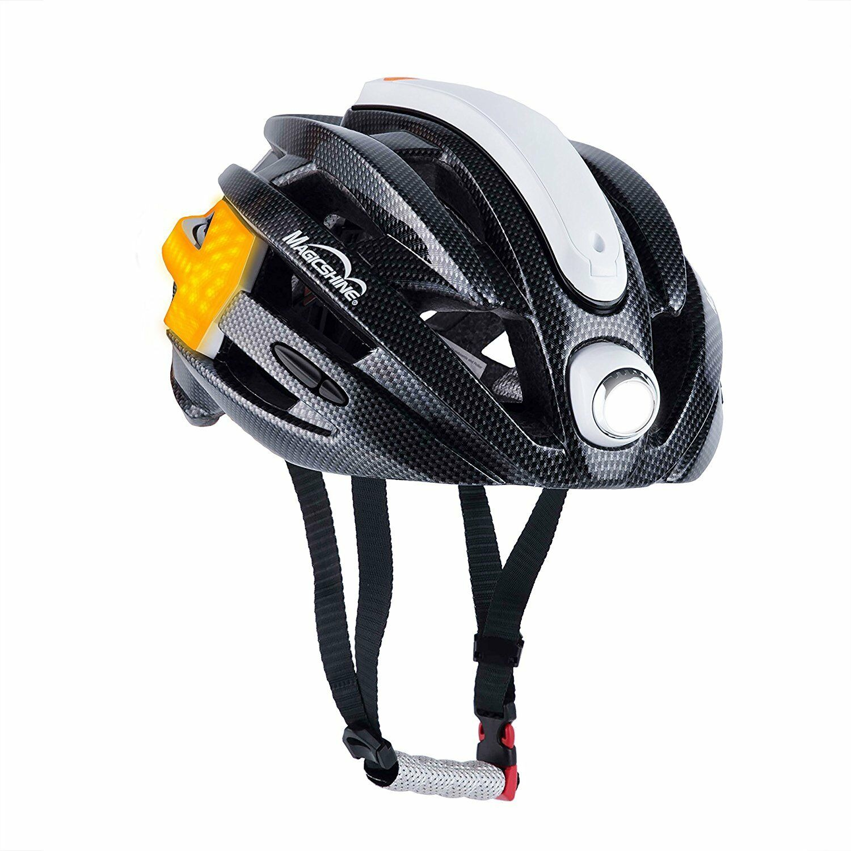 Magicshine MJ-898 Bike Helmet with Front Headlight Turn Signal Lights Taillight
