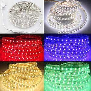 SMD3014-Luces-de-cinta-tira-LED-flexible-AC220V-60-L-m-impermeable-Multicolor
