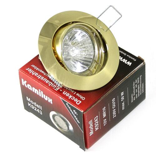 Deckeneinbau Strahlerlampen Lisa Halogen 230V IP20 GU10 Dimmbar Dimmer wählbar
