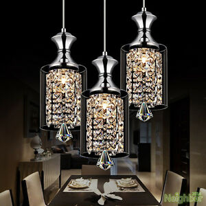Image Is Loading New Modern Crystal Chandelier Ceiling Lights Pendant Lamp