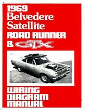1969 69 Plymouth Roadrunner Satellite Color Laminated Wiring Diagram 11 X 17 For Sale Online Ebay