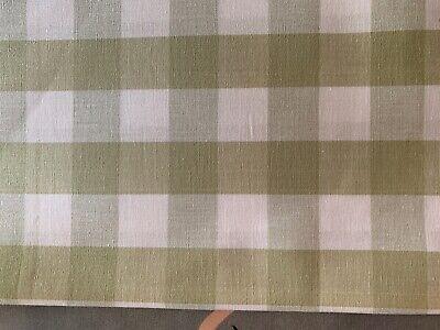 Sea Spray /& White Gingham  Check Curtain//Craft Fabric