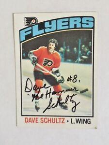 Philadelphia-Flyers-Dave-The-Hammer-Schultz-1975-76-Autographed-NHL-Card
