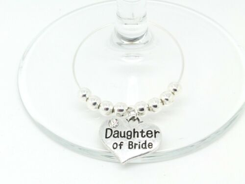 Personalised Silver Wedding Guest Wine Glass Charms Favours Table Decorations