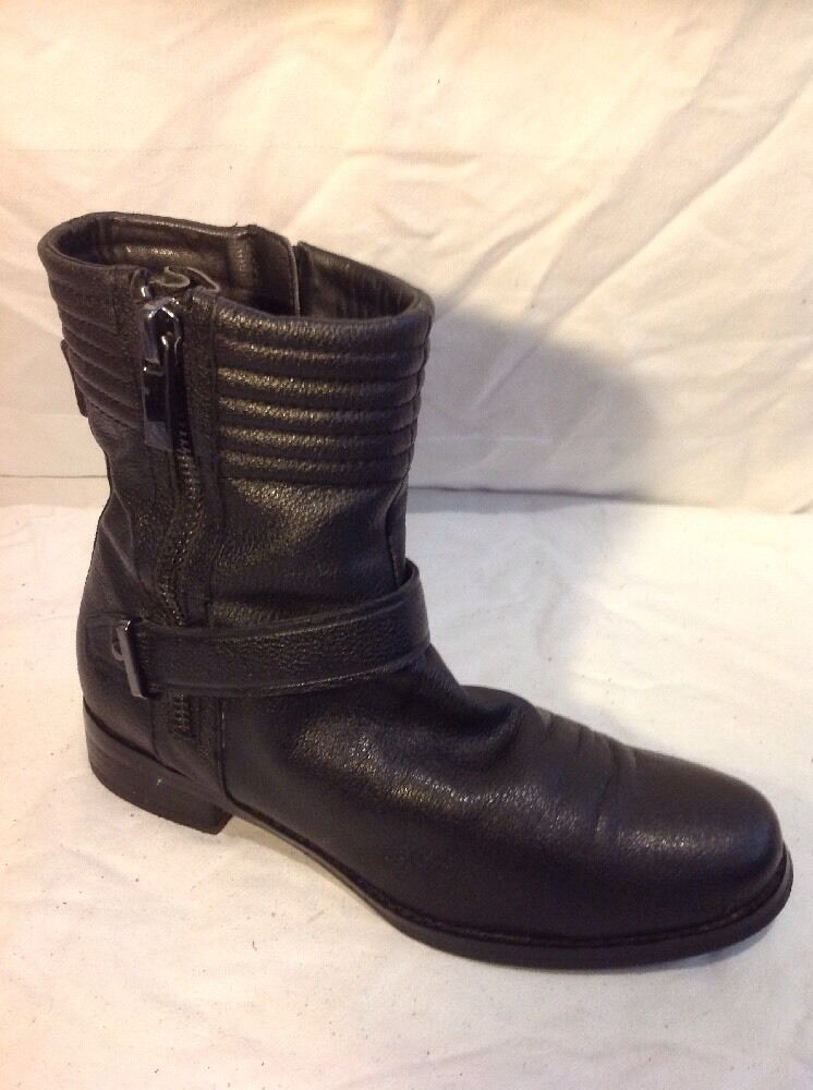 Autograph Black Ankle Leather Boots Size 6.5