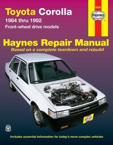 Repair Manual-DLX Haynes 92085 fits 87-89 Toyota Tercel