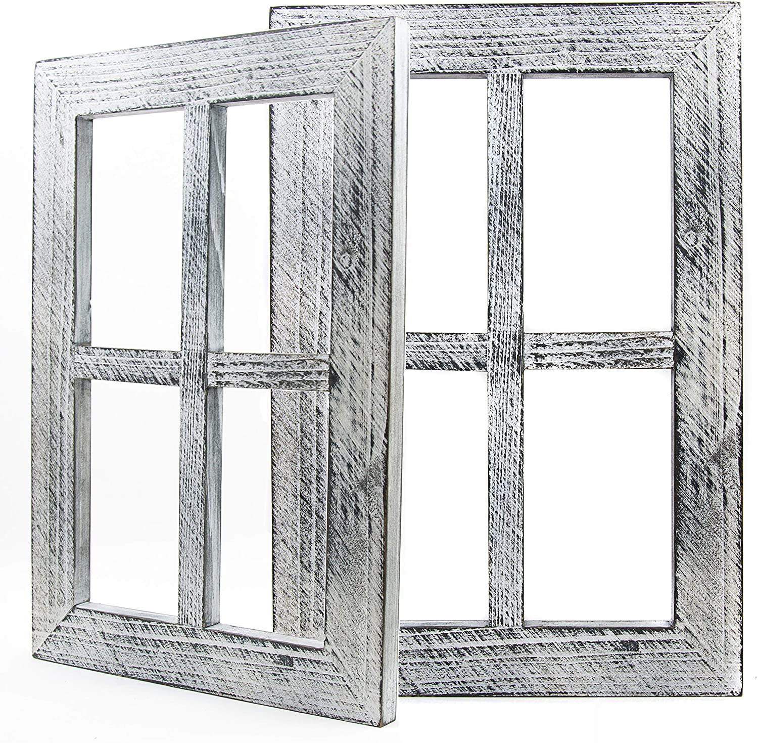 Daisy S House Distressed Window Frame Wall Decor Set Of 2 Rustic Window Pane For Sale Online Ebay